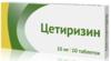 Цетиризин таб п/плен. об. 10 мг №20